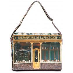 Shoulder-bag-Paris-retro-style-Maron-Bouillie-Herboristerie-de-la-place-clichy-1