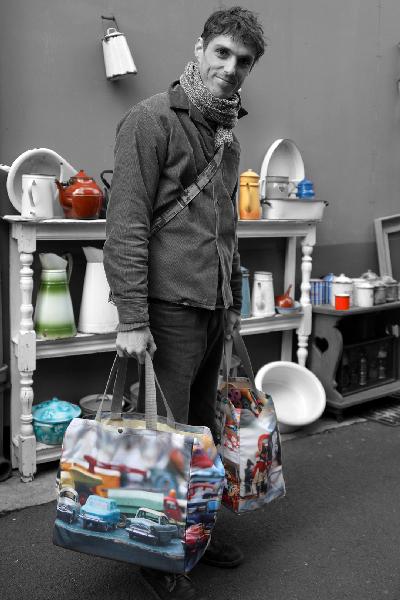 Maron Bouillie Collection Brocante sacs cabas