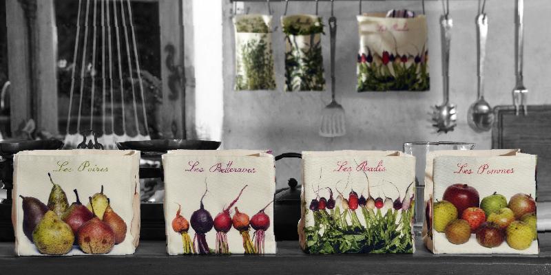 Maron Bouillie Collection Les légumes s'invitent à la cuisine - Boite de rangement écologique - zéro déchet