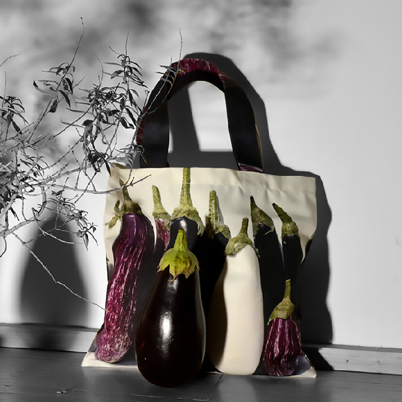 Maron Bouillie Sacs de courses - sac réutilisable - made in France