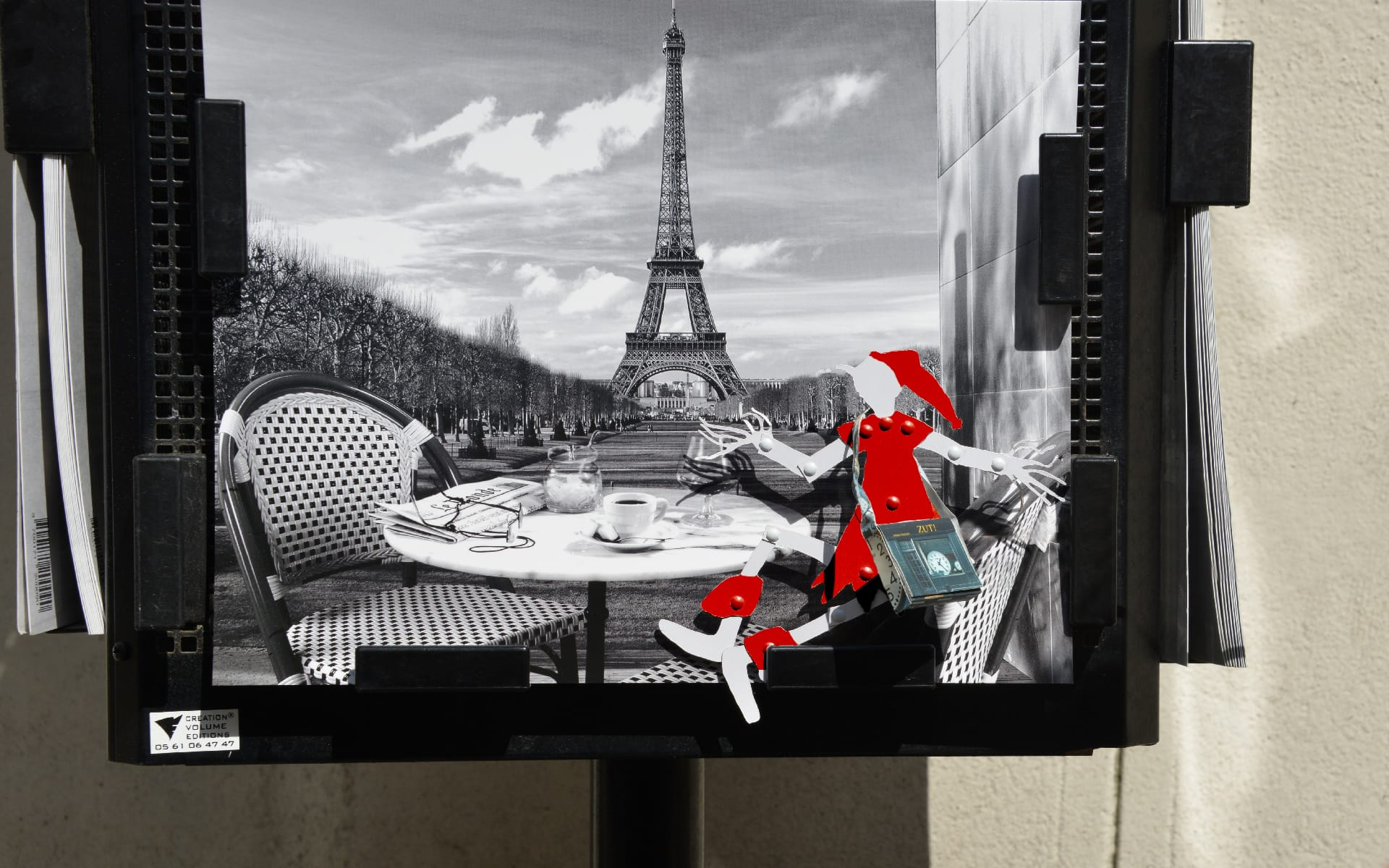Maron Bouillie Paris little pixie post card Christmas Eiffel tower
