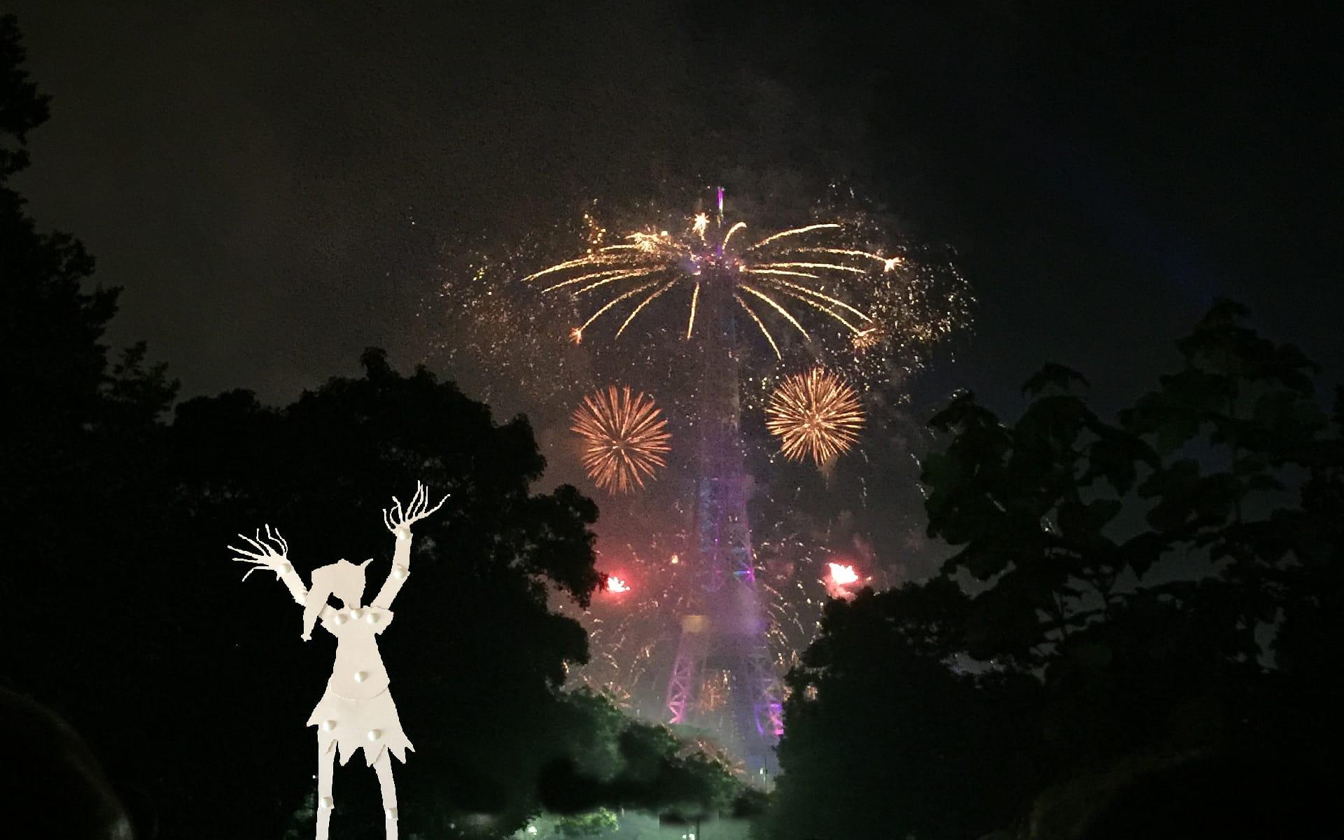 Maron Bouillie Paris little pixie fireworks Eiffel tower