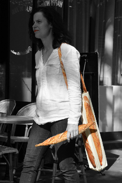 Maron Bouillie sac à pain - sac à baguette - made in France