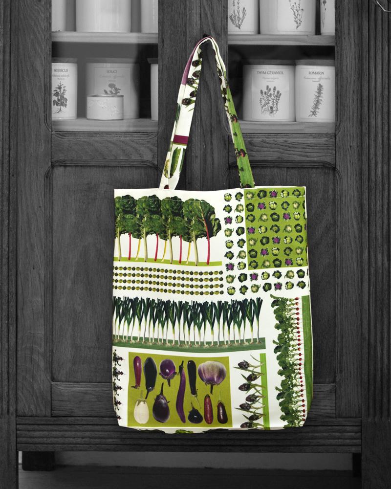 Tote bag design petit jardin made in France
