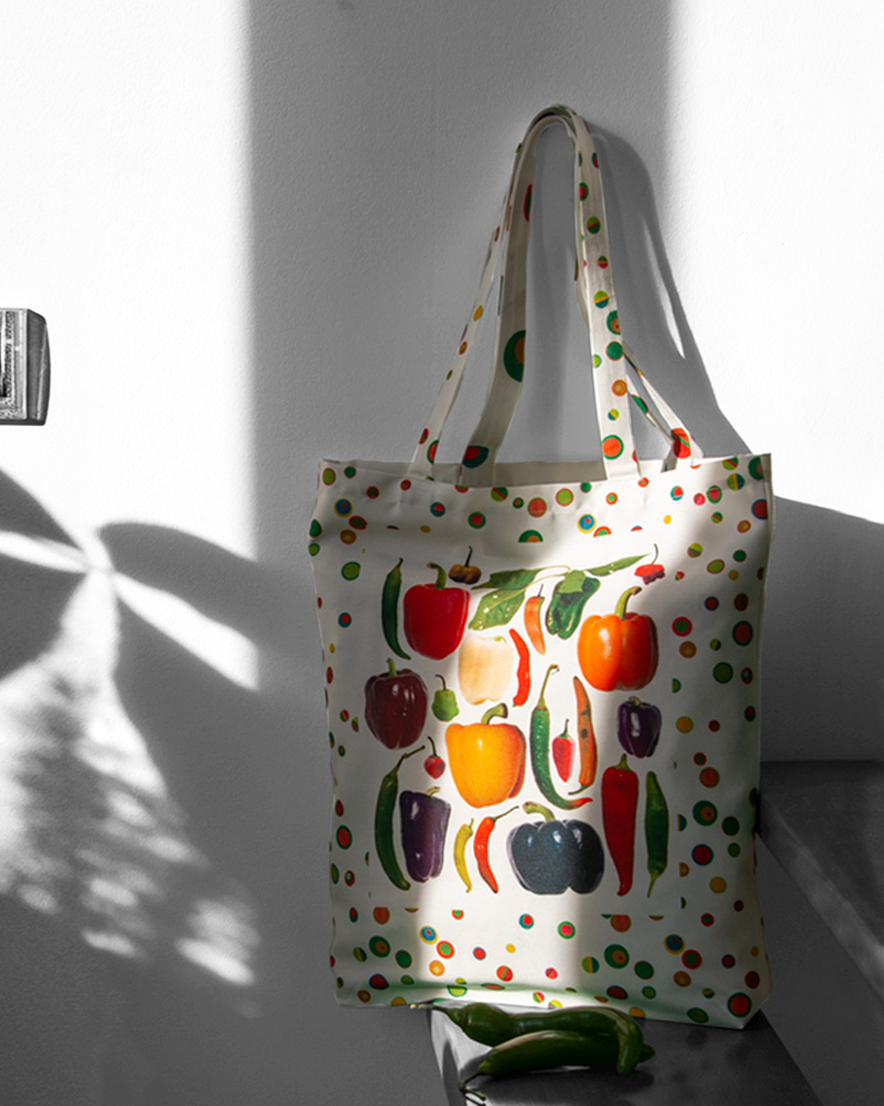 Tote bag design Piments et poivrons made in France